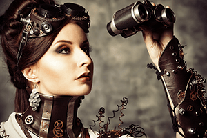 Woman searching with binoculars for your website on Google!