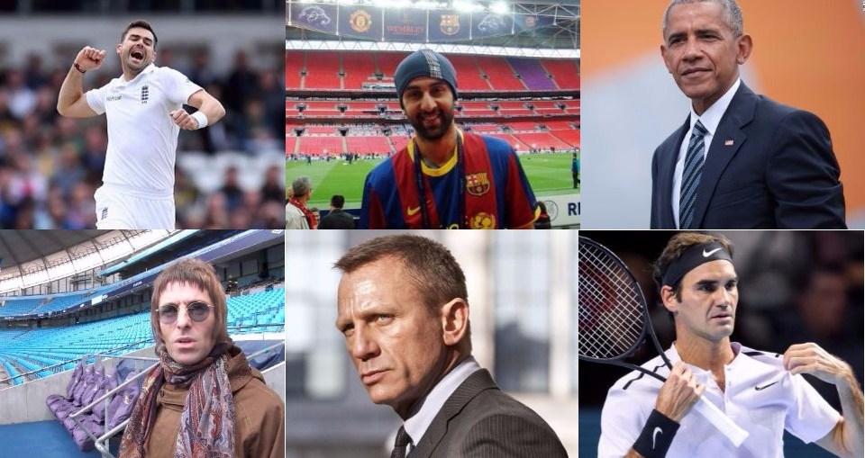 Celebrity Football Fans