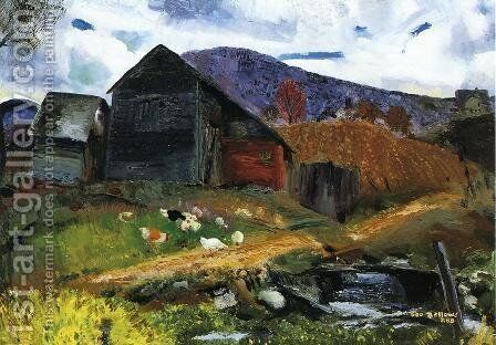 Old Barn In Shady Valley Painting By George Wesley Bellows