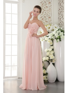 Beautiful Chiffon Pearl Pink Prom Gown 2012 IMG95181st