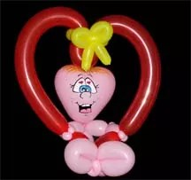 heart balloon animal