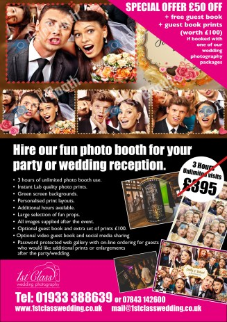 Wedding Photo Booth Special offer discount