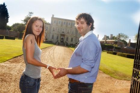 Harrowden Hall Wedding Engagement Shoot