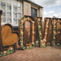 Rustic Love letter Hire Vintage