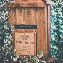 rustic post box hire Northamptonshire