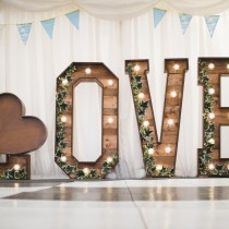 Rustic Love Letter Hire Grendon Lakes Northamptonshire