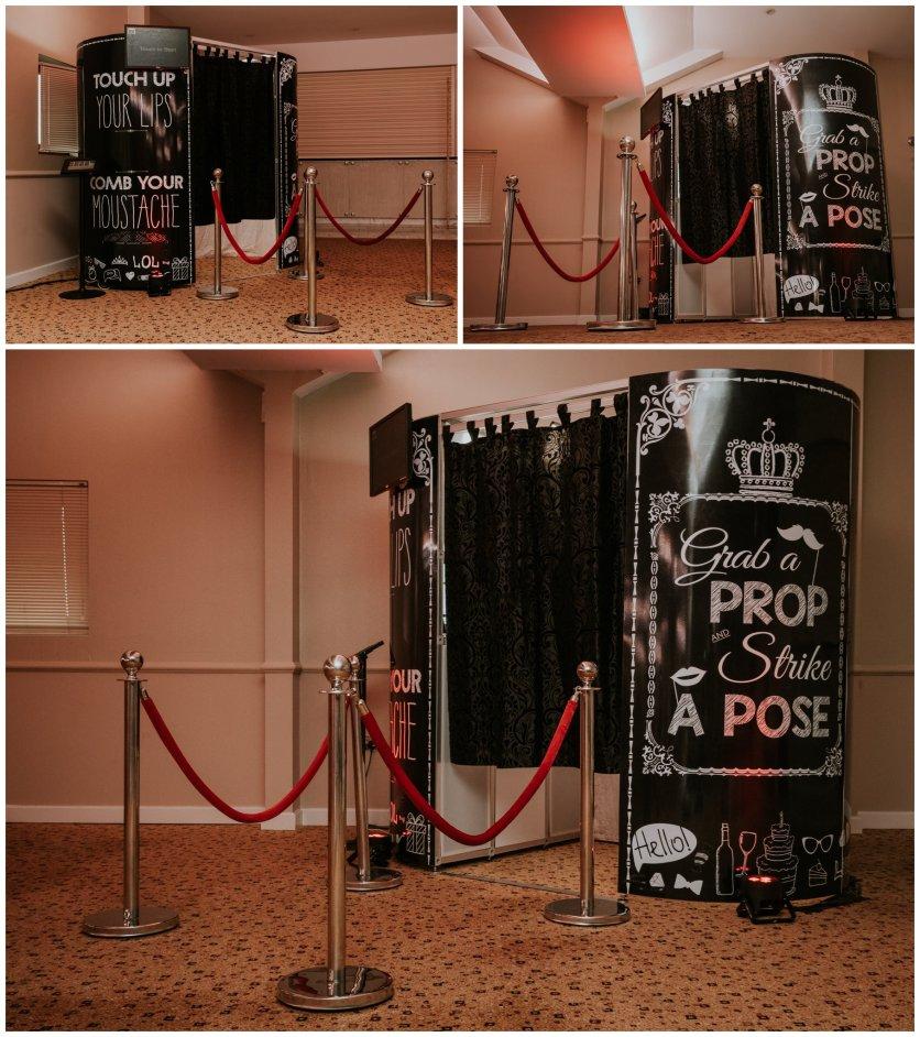 Black VIP Enclosed Booth
