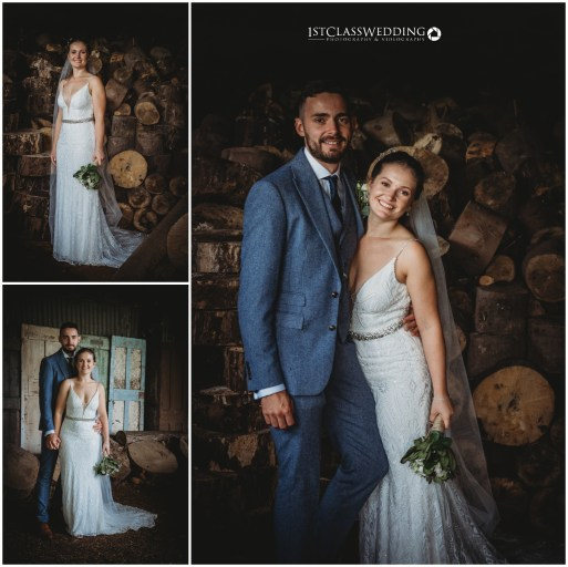 Barns at Hunsbury Hill Wedding Photographer