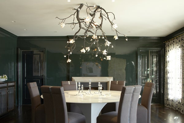 Joe Nahem Of Fox Associates Collaborated With Artist David Wiseman R Company To Create A Chandelier Modeled After Blossoming Branch