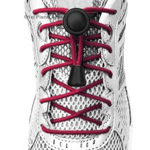 Maroon elastic no tie locking shoelaces