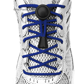 Navy Blue elastic no tie locking shoelaces