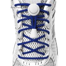 Navy Blue elastic no tie locking shoelaces
