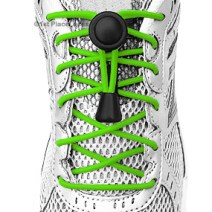 Neon Green elastic no tie locking shoelaces