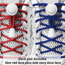Red, White & Blue elastic no tie locking shoelaces