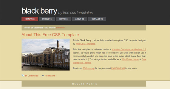 black-berry-xhtml-css-template
