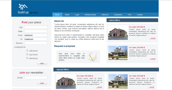 build-up-xhtml-css-template
