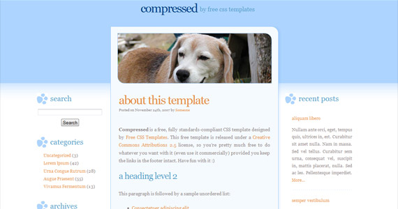 compressed-css-xhtml-template