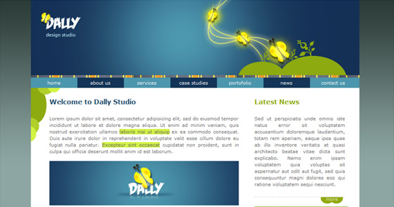 dally-xhtml-css-template