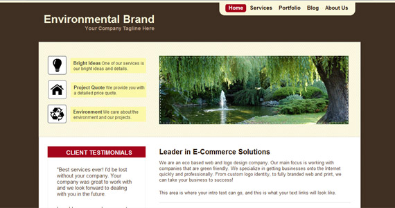 environmental-brand-css-xhtml-template