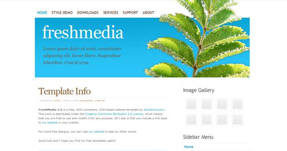 freshmedia-xhtml-css-template