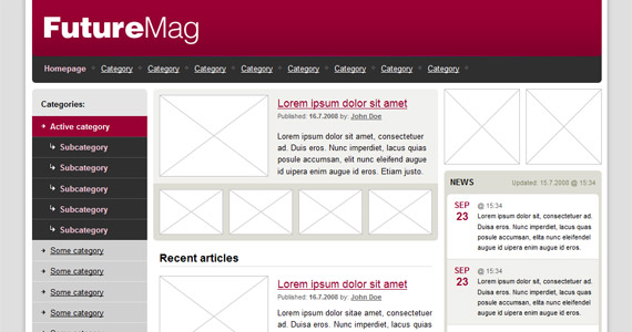future-magazine-xhtml-css-template