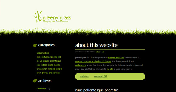 greeny-grass-css-xhtml-template