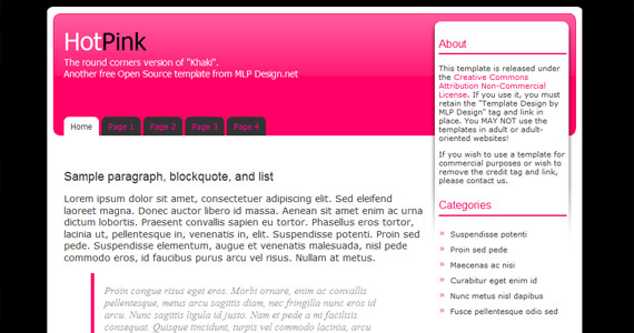 hot-pink-xhtml-css-template