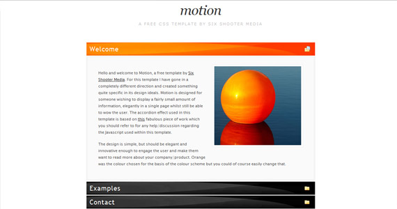 motion-xhtml-css-template