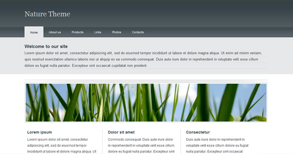 nature-theme-xhtml-css-template