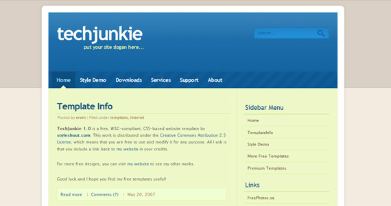 techjunkie-xhtml-css-template