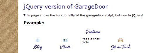 garage-door-jquery-menu