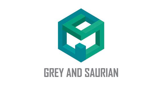 grey-and-saurian-creative-gradient-3d-logo-design