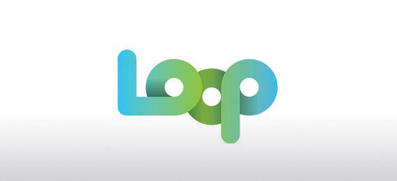 loop-creative-gradient-3d-logo-design