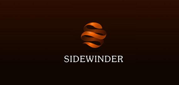 sidewinder-creative-gradient-3d-logo-design