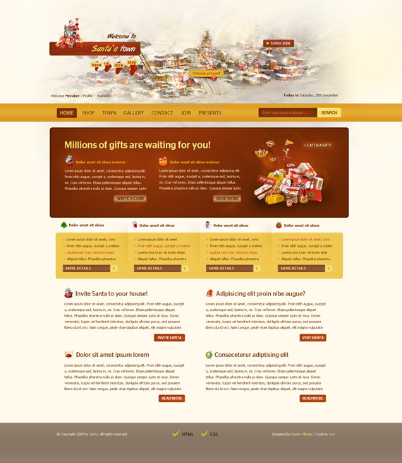 Santa-town-web-design-interface-inspiration-deviantart