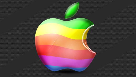 How to create a colorful mac logo