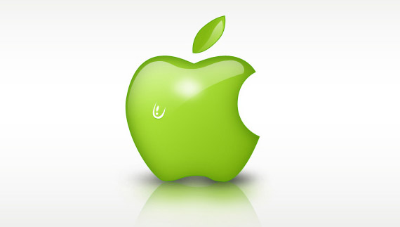 How to create a green apple style logo