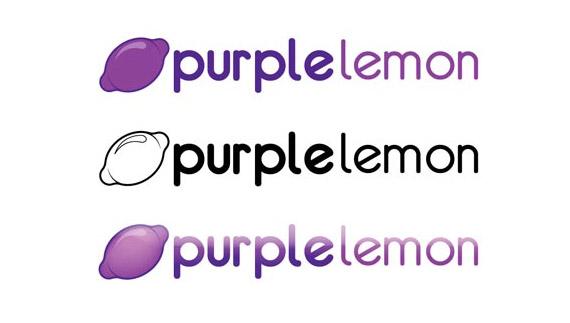 Purple lemon logo design process