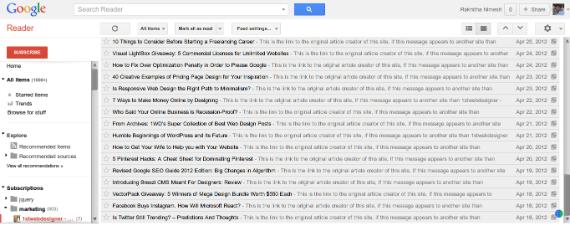 Google Reader Infinite Scrolling