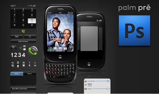 Palm Pre GUI PSD