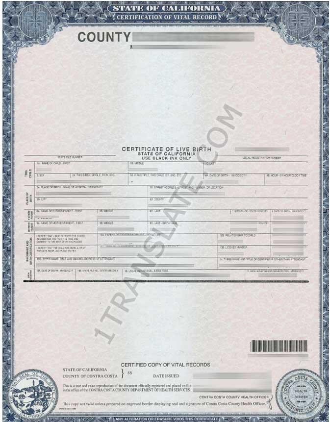 Ukrainian Russian Us Birth Certificate Translation