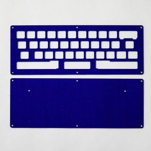 DIY JD40 2-Plate Carbon Fiber Blue Keyboard Kit-0