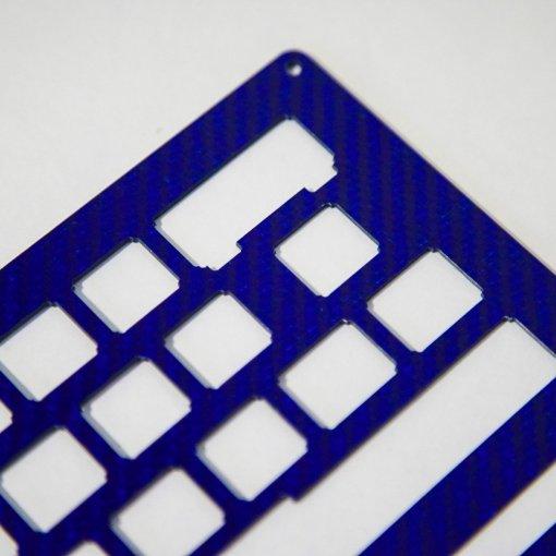 DIY JD40 2-Plate Carbon Fiber Blue Keyboard Kit-1605