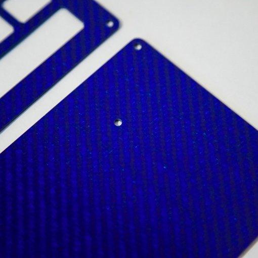 DIY JD40 2-Plate Carbon Fiber Blue Keyboard Kit-1606