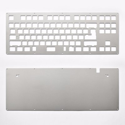 DIY TKL 2-Plate Sandblasted Stainless Steel Keyboard Kit-0