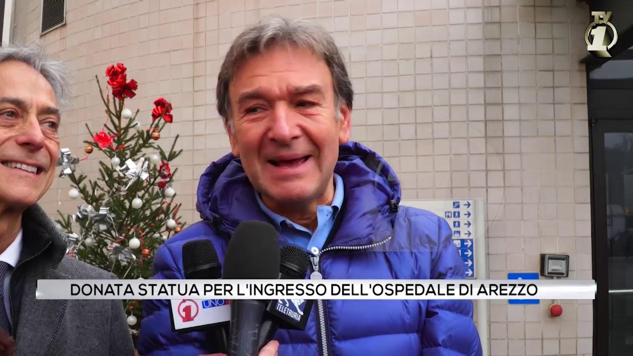 Donata statua per l'ingresso dell'ospedale di Arezzo