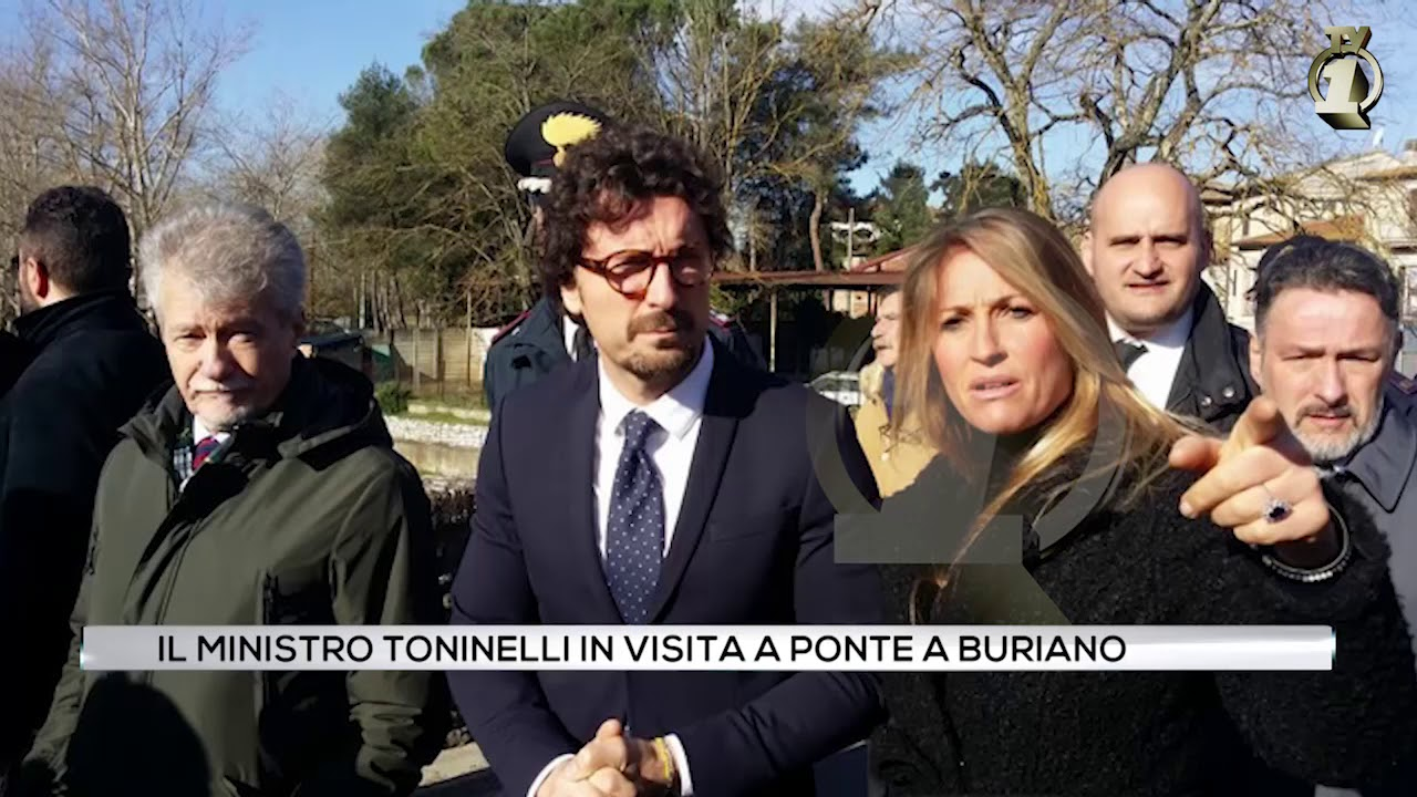 Il ministro Toninelli in visita a Ponte Buriano