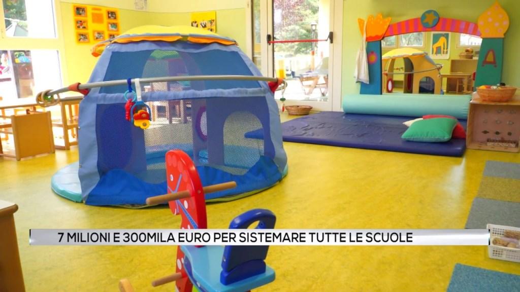 7 milioni e 300 mila euro per sistemare tutte le scuole