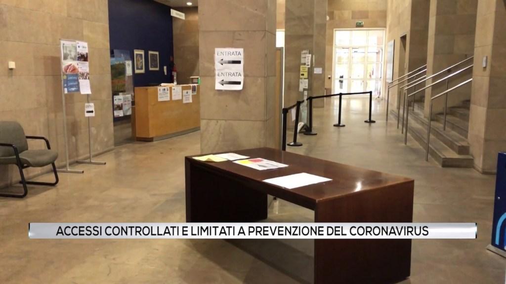 Accessi controllati e limitati a prevenzione del Coronavirus