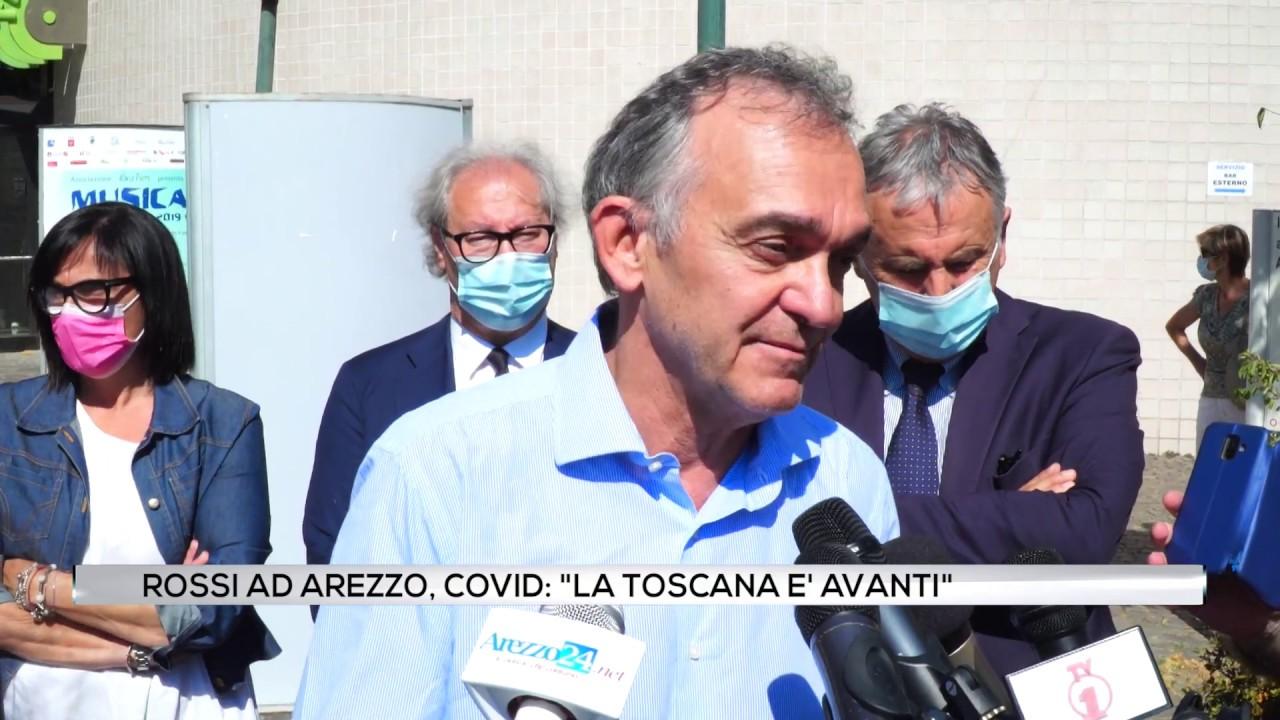 """Rossi ad Arezzo, Covid: """"La Toscana è avanti"""""""